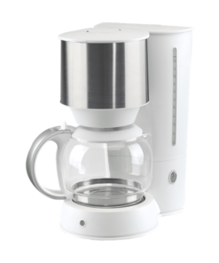 Kaffebryggare vit/rostfri design|kaffe-rep.se